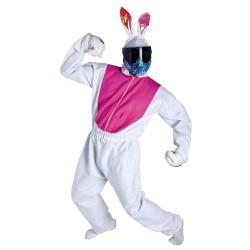 Disfraz para paintball conejo blanco y rosa