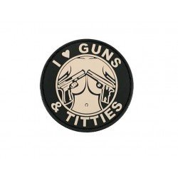 Parche pvc guns and  tities rose