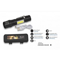 Linterna Recargable con Clip y cable Usb BARBARIC