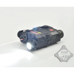 AN/PEQ-15 Laser rojo con linterna Negro