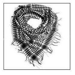Pañuelo Palestina Blanco/Negro