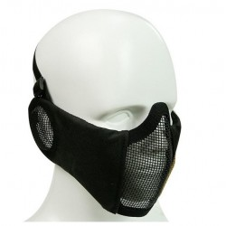 Máscara acolchada con cubre orejas Negro