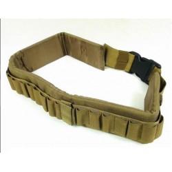 Cinturón porta cartuchos ajustable TAN