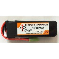 Bateria 11 1 V 1800 mAh 20C 18x34x102mm IPOWER