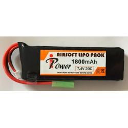 Bateria 7 4 V 1800 mAh 20C 12*34*102cm IPOWER