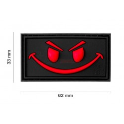 Parche EVIL SMILE  Negro/Rojo