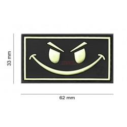 Parche EVIL SMILE  Negro/Flourescente