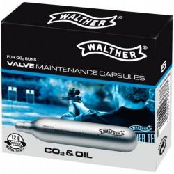 5 capsulas CO2 para mantenimiento Walther