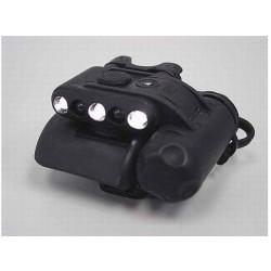Linterna LED para casco Negro