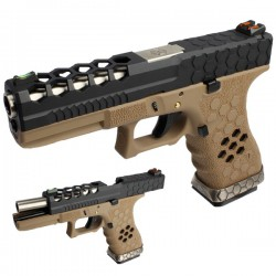 G17 HEX-CUT NEGRA-TAN ARMORER WORKS