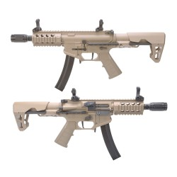 FUSIL King Arms PDW 9mm SBR TAN