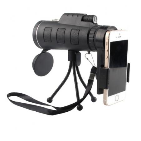 Telescopio Monocular 40*60 con adaptador de movil y tripode