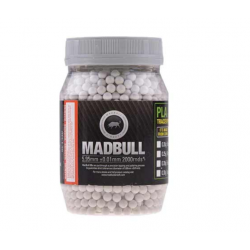 MADBULL 0.40G HEAVY BBS FOR SNIPERS - BOTTLE 2000 RDS - WHITE